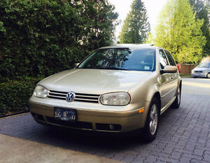 Mint Condition Beige/Gold 2003 VW Golf TDI GLS Manual Hatchback