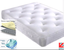 """🇬🇧MATTRESS SALE. BRAND NEW 4FT6 DOUBLE MEMORY ORTHOPAEDIC SPRING 10"""""""