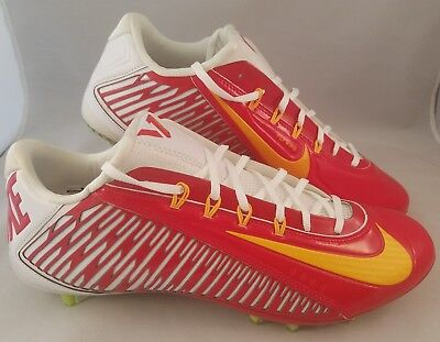 2d005f9d65c4 Nike Vapor Carbon Elite 2.0 TD Football Cleats Men's Size 14 Red White  Yellow
