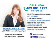 FINANCING SOLUTIONS with Private lenders