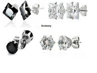 Brand New Unisex Cubic Zirconia surgical steel stud earrings wholesale price