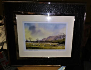 PRINT - Signed Print, Leather and Chrome Frame -PAUL HOLMES #6