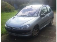 Peugot 206, Silver 1.36L, 2003 with low mileage (71,000)