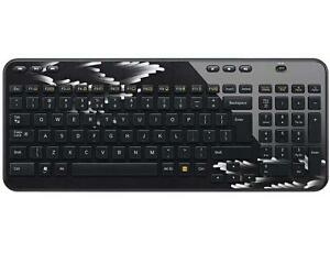 N Logitech K360 Wireless Keyboard - Coral Fan w/Unifying Receiver