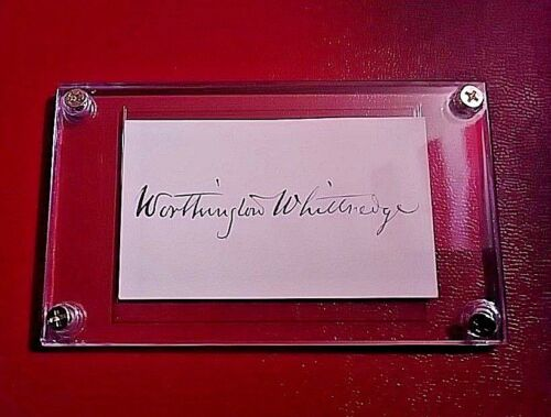 Thomas Worthington Whittredge Autograph 1820-1910 Famous American Artist SIGNED.