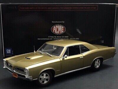 """ACME 1966 Pontiac GTO Hurst Gold """" NO vinyl Top RARE"""" 1/18 HTF ACME 1 Of 98"""