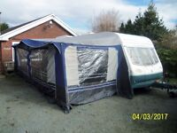 """Avondale Land-Ranger 6400 Twin Axle Touring Caravan with 1 huge awning and additional """"Porch"""" Awning"""