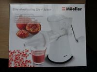 Brand New Müeller Elite Masticating Slow Fruit/Vegetable Wheatgrass Juicer