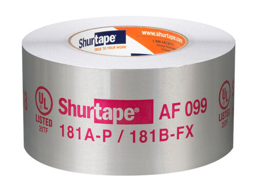 Shurtape. 181A-P/B-FX LISTED. HVAC FOIL TAPE/ AF-099 2.5in x 60 yd