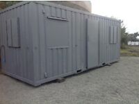 Site Office 20ft x 8ft Anti Vandal Steel Shipping Container