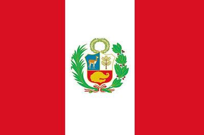 Fahne Peru Querformat 90 x 150 cm peruanische Hiss Flagge WM 2018