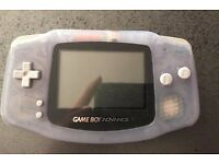 GBA Game Boy Advance Clear Transparent Nintendo Handheld UK