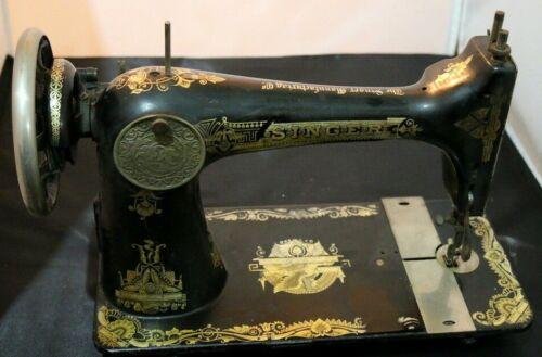 VINTAGE SINGER SEWING MACHINE EGYPTIAN SPINX FOR RESTORATION