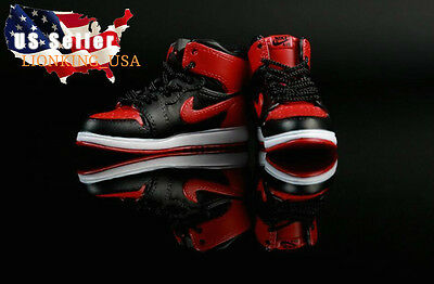 "1/6 Men Shoes Nike Air Sneakers Red For 12"" Hot Toys Phicen Male Figure ❶USA❶, used for sale  Shipping to Nigeria"