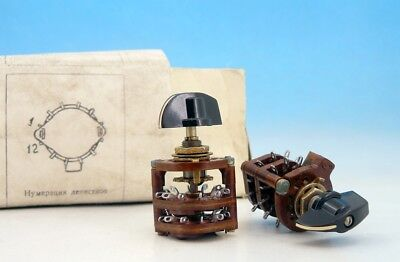 Ussr Military Rotary Switch Handle Knob 4 Pole 5 Positions 4p5t 5p4n 300v 2a