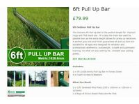 2 x 6ft Outdoor Pull up Bars