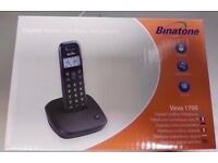 BRAND NEW BINATONE VEVA 1700 DIGITAL HOME CORDLESS TELEPHONE WITH RECEIPT