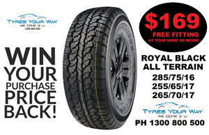 Royal Black All Terrain Tyres with FREE mobile fit and balance! Joondalup Joondalup Area Preview