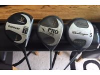Set of Donnay Golf Drivers with Head Covers