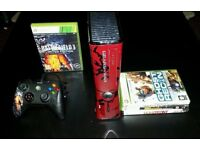 Microsoft Xbox 360 Slim, Gears of War 3 Slim Model limited edition controller and 5 expensive games