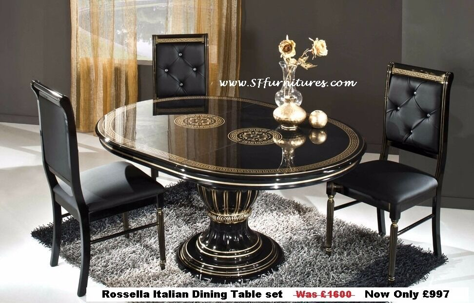 Versace style Rossella Italian Dining Table and Chairs  : 86 from www.gumtree.com size 972 x 622 jpeg 119kB