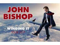2 x John Bishop - Winging It tickets - Manchester Arena Friday 24th November