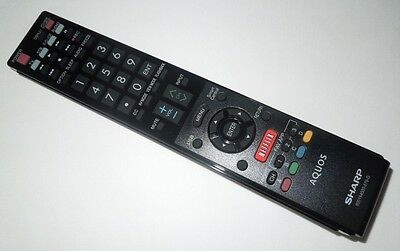 Original SHARP AQUOS LED TV Remote Control LC-50LE650  600154000-579-G  Netflix  Aquos Led