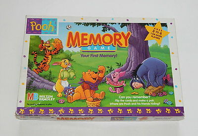 (Milton Bradley Pooh Memory Game 1996 COMPLETE R10237)