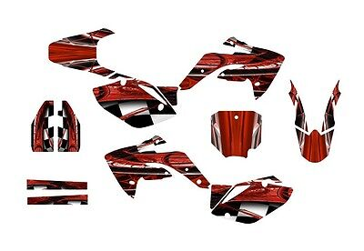 (CRF150R graphics decal kit for Honda 2007 - 2015 #2001 Red Free Customization)