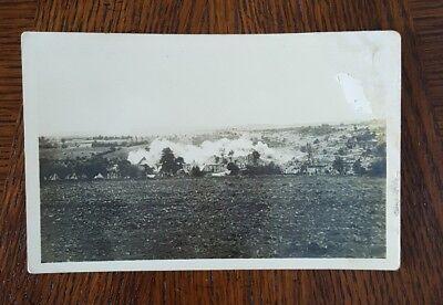 Vintage Postcard Lidice Destruction 1942 Whole Village killed by Germans