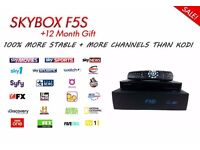 Skybox HD Box F5S Plug and play! Ready to use with 12 month gift