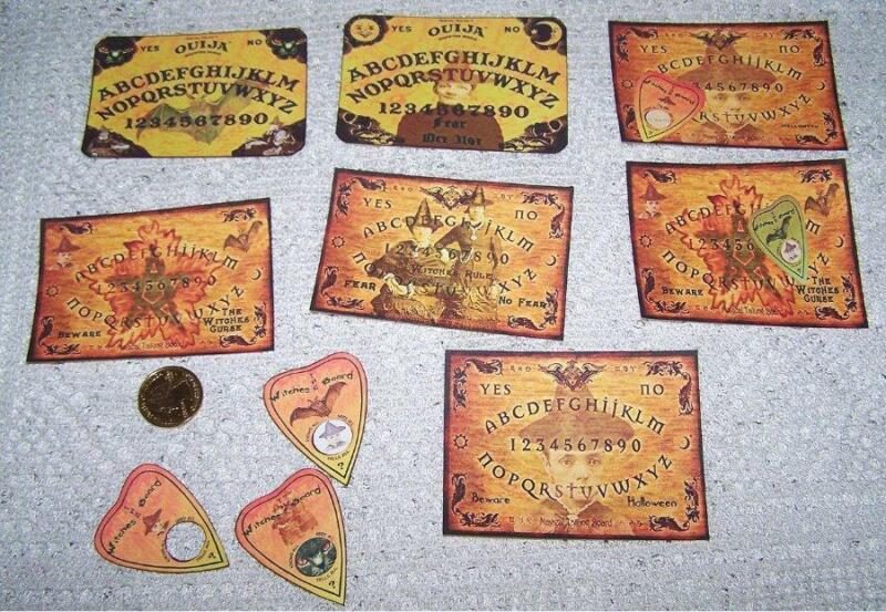 10~Halloween~Ouija~Boards~Planchette~Witch~Pentagram~Wicca~Linen Cardstock~Cards