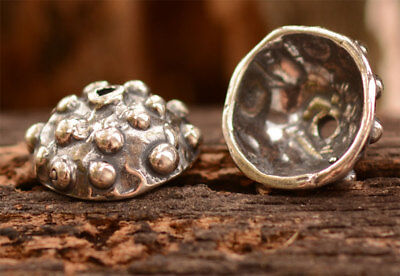 Artisan Sterling Silver Dotted Bead Caps
