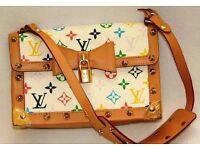 Louis Vuitton multicolour womens handbag, serial number, stunning
