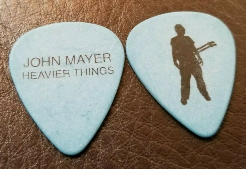 2003 John Mayer Signature Blue Guitar Pick Heavier Things Tour