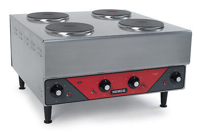 Nemco 6311-2-240 Raised Four Burner Electric Range / Hot Plate - 240v/1ph