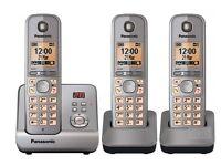 Panasonic KX-TG 6723 Trio Digital Cordless Phones with Answering Machine