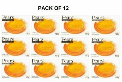 Pears Transparent Amber Soap with Gentle Care 125 g (Pack of 12)