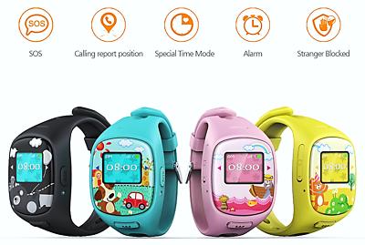 GPS Cellulare Bambini WHERECOM® KidFit 2 Chat interattiva SOS Zona Sicurezza