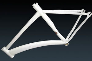 Leader-727-TR-Alloy-Track-Frame-WHITE-53cm-Fixed-Gear-Single-Speed-Bike