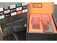 Amazon Fire TV Stick. With the best extras i.e Kodi, Mobdro and SPMC also Mouse Toggle