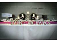 Mr Mrs wedding letters top table decorations