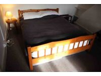 Pine bed frame - king size