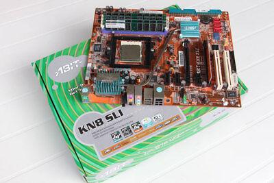 Mainboard ABIT KN8 SLI Sockel 939 mit CPU und RAM