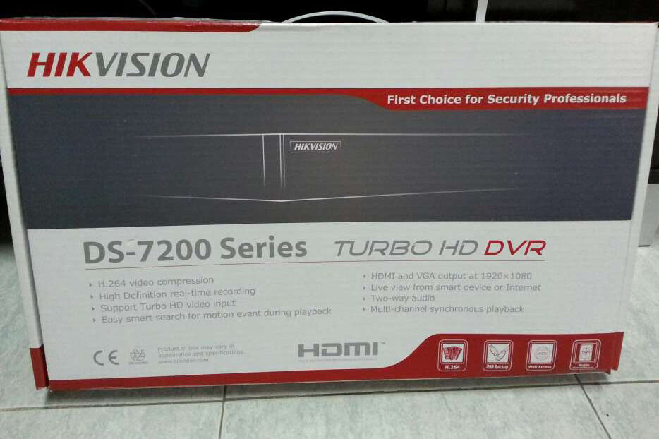 Hikvision Ds 7200 Series 8 Ch Security Camera Video