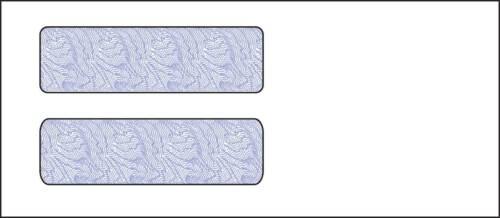 Size 10 Business Software Double Window Envelopes 1000/lot