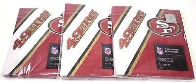 NFL San Francisco 49ers 48pcs Napkins Partyware Party Supplies (Party Supplies San Francisco)