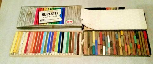 NUPASTEL Color Sticks Eberhard Faber, 2 boxes one mostly full, one partial