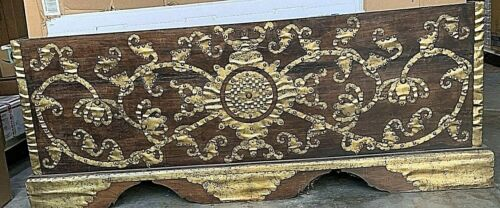 Antique or Vintage Asian Primitive Wooden Trunk.  Local pickup only.