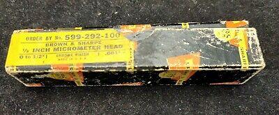 Vintage - Brown Sharpe 292 - 12 Micrometer Head Replacement 599-292-100 - Nos